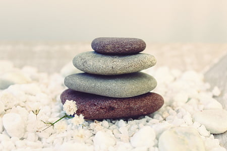 石头, 冥想, 平衡, 弛豫, gartendeko, 花园设计, 休息