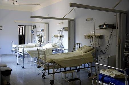 nemocnice, postel, Doktor, chirurgie, zdravotnictví a medicína, uvnitř, nemocniční oddělení