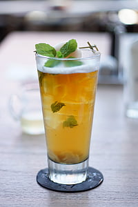 tee, Pilsner, klaas, joogid, mahla, sidruni, jook