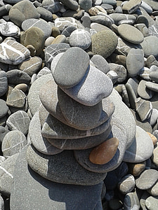 stones, beach, pebble, sand gravel, balance, zen, meditation