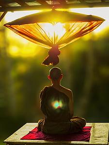 theravada budismi, mediteerima, vihmavari, mõtiskledes munk, theravada, budism, Meditatsioon