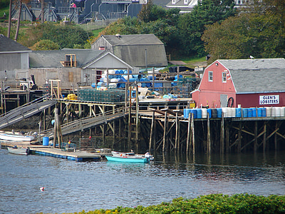 llagostes de Glen, Maine, llagostes, passeig marítim