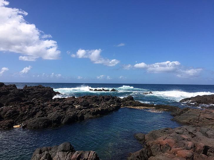 platja, Costa, llum natural, illa, paisatge, oceà, a l'exterior