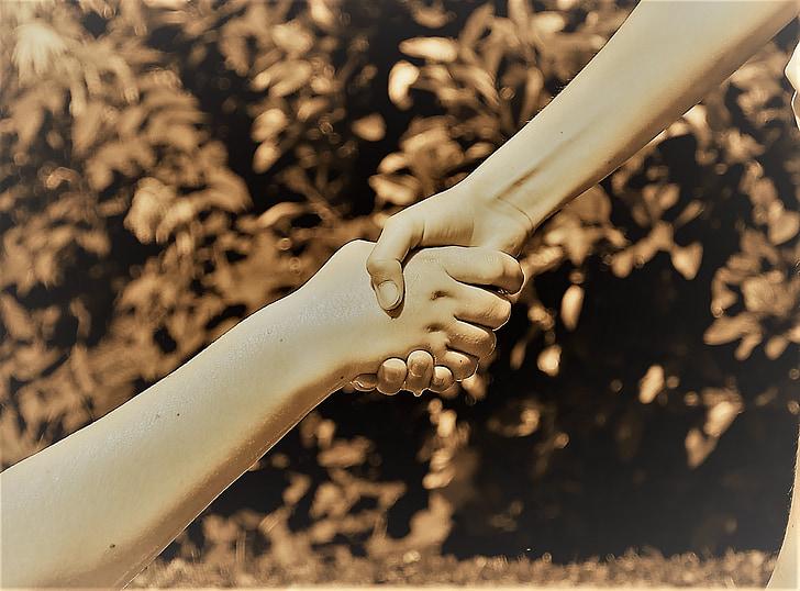 kädet, ystävyys, Apua, yhdessä, Rakkaus, kättelee, kättely