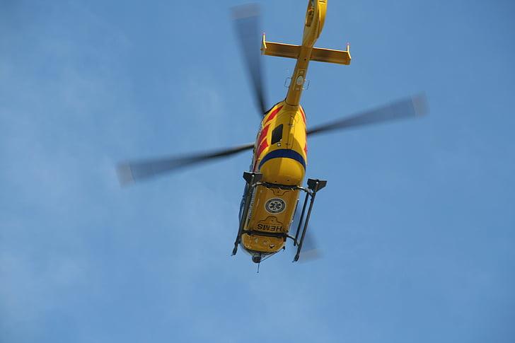 ουρανός, το καλοκαίρι, ιατρικό ελικόπτερο