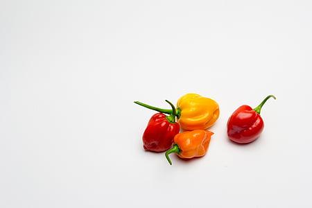 paprika, Habaneros, Aji, Vürtsikas, Tšiili, köögiviljad, taimne