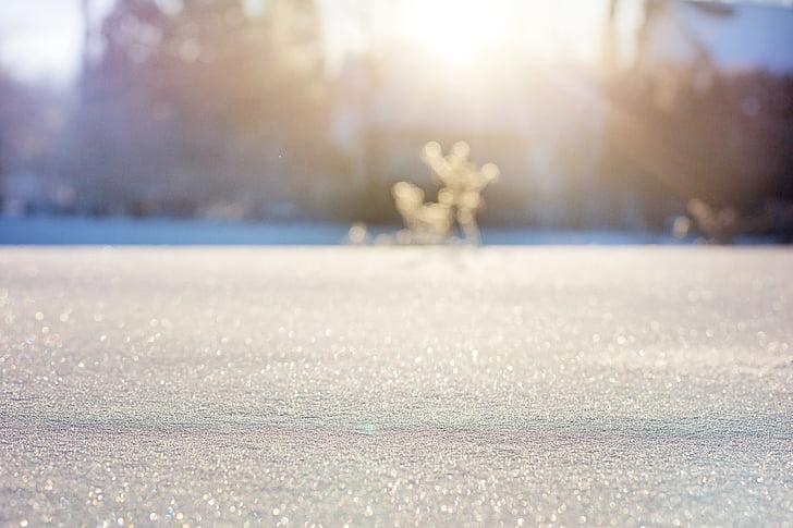 Snaigės, sniego, Bokeh, sniego bokeh, žiemą, Gamta, šaldymo