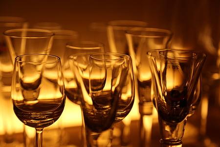 vidre, ulleres, còctel, Restaurant, copes de vi, sopar, begudes alcohòliques