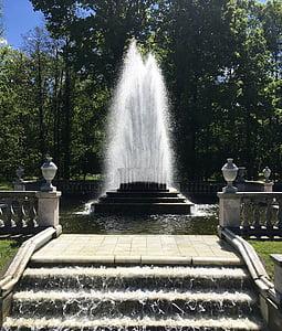 suihkulähde, veden ominaisuus, vesi, suihkulähde, kupla, Park, Venäjä