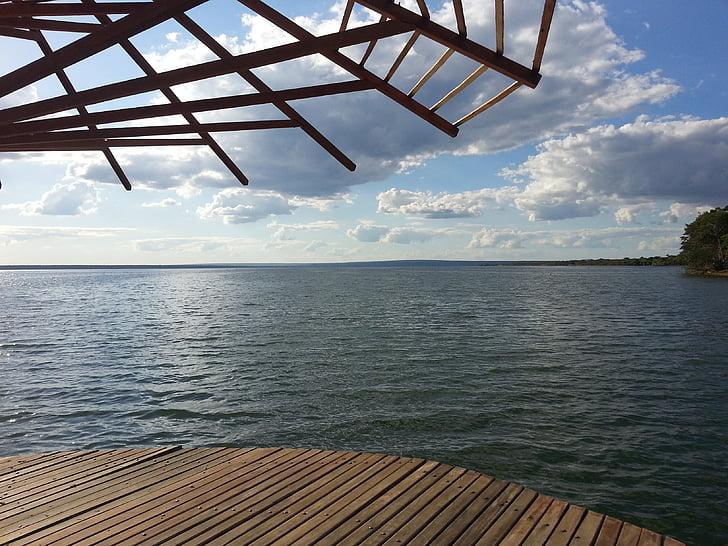 ežeras, kraštovaizdžio, Gamta, Harmonija, vandens, Palmas, Tocantins
