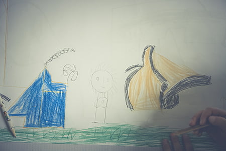 children, drawing, paint, child, children drawing, image, painting