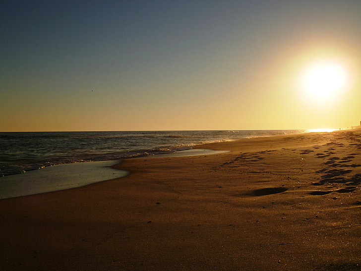 beach, sunset, pensacola, sunset beach, ocean, sea, vacation