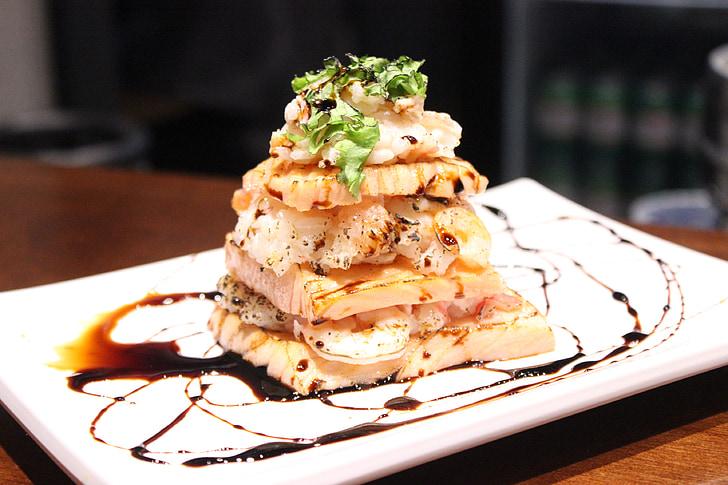 gastronomia, cibo giapponese, gamberetti