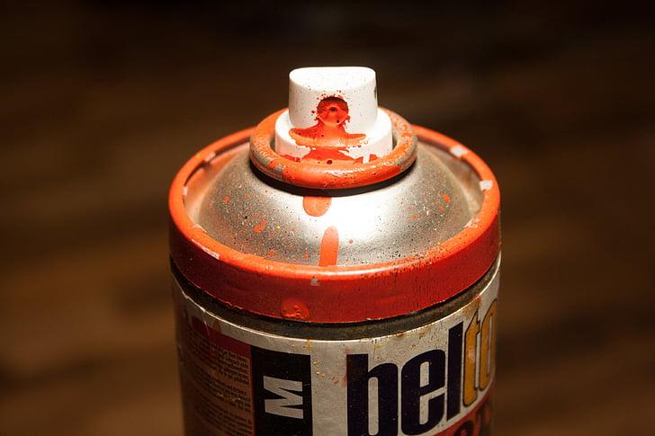 spray, doboz, spray lehet, színes, piros, graffiti, graffiti