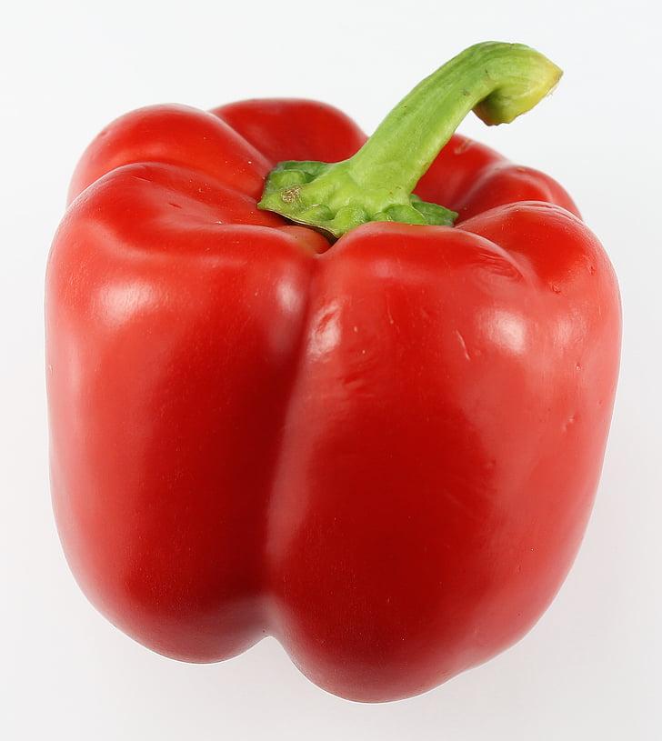 paprika, röd paprika, grönsaker, röd, peppar, paprika, Vegetarisk