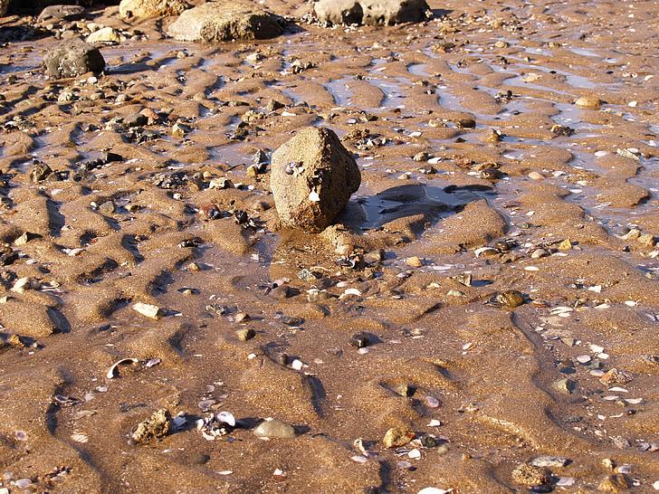 rock, sand, beach, stone, zen-like, nature, ocean