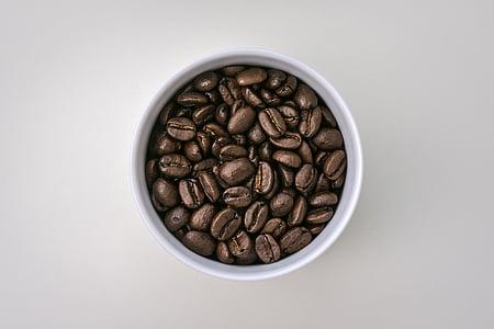 cafè, gra de cafè, fesol, aliments, cafeïna, marró, cultiu
