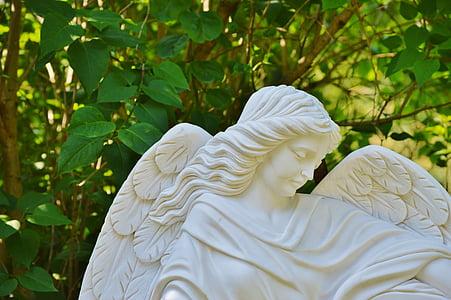 Ángel, piedra, escultura, Figura, Deco, figura de Ángel, religión