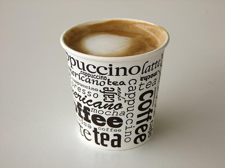 kopi, Piala, cangkir kopi, kafe, minuman, kopi busa, kopi - minuman