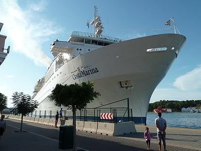 skipet, liner, fartøy, Cruise, båt, sjøen, reise