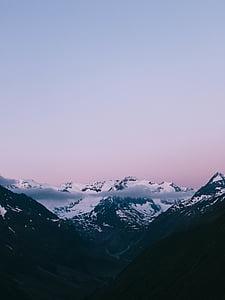 그림, 피크, mt, 에베레스트, 일광, 클라우드, 산