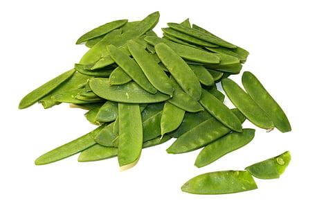 pèsols, verdures, llegum, aliments, vegetals, color verd, fulla