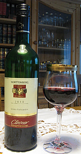vino, vino rosso, bottiglia, bicchiere di vino, Pinot, natura morta, macro