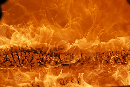 foc, foc de fusta, flama, cremar, marca
