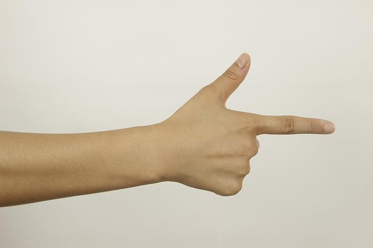 hand, vinger, het gebaar, gebaren, menselijke hand, duim, teken