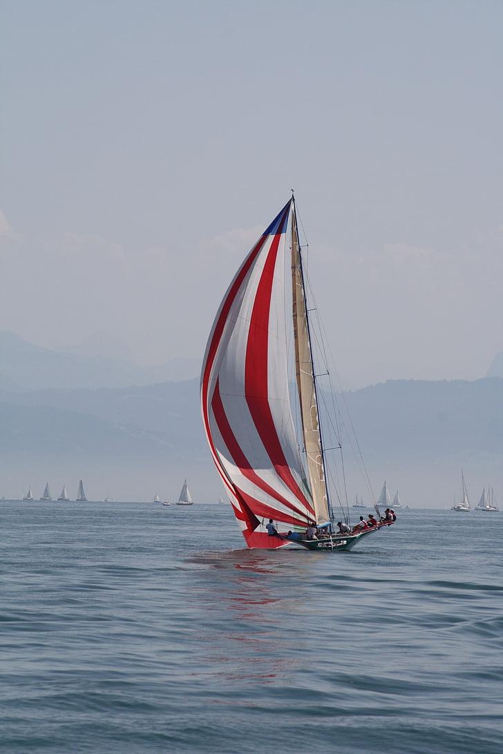 veler, Llac de Constança, boira, vela, estat d'ànim