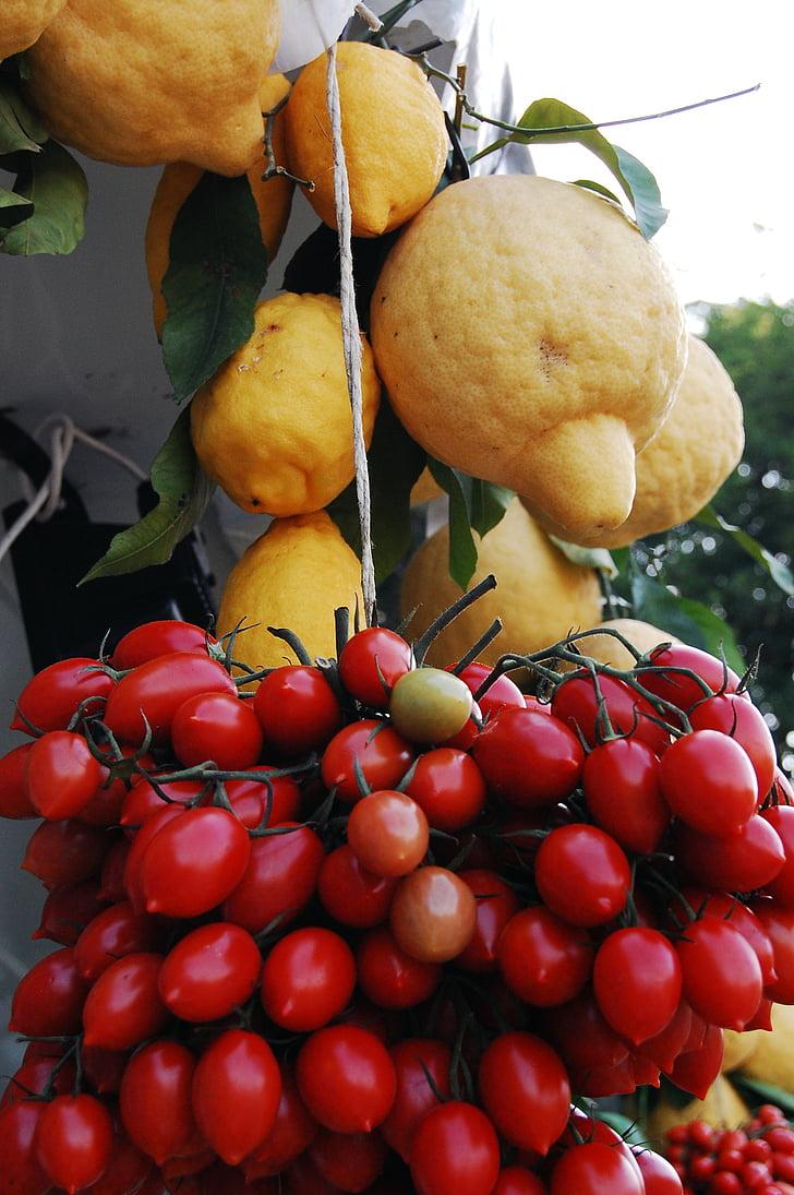 llimones, llimona, fruita, Orgànica, tomàquets, aliments, frescor