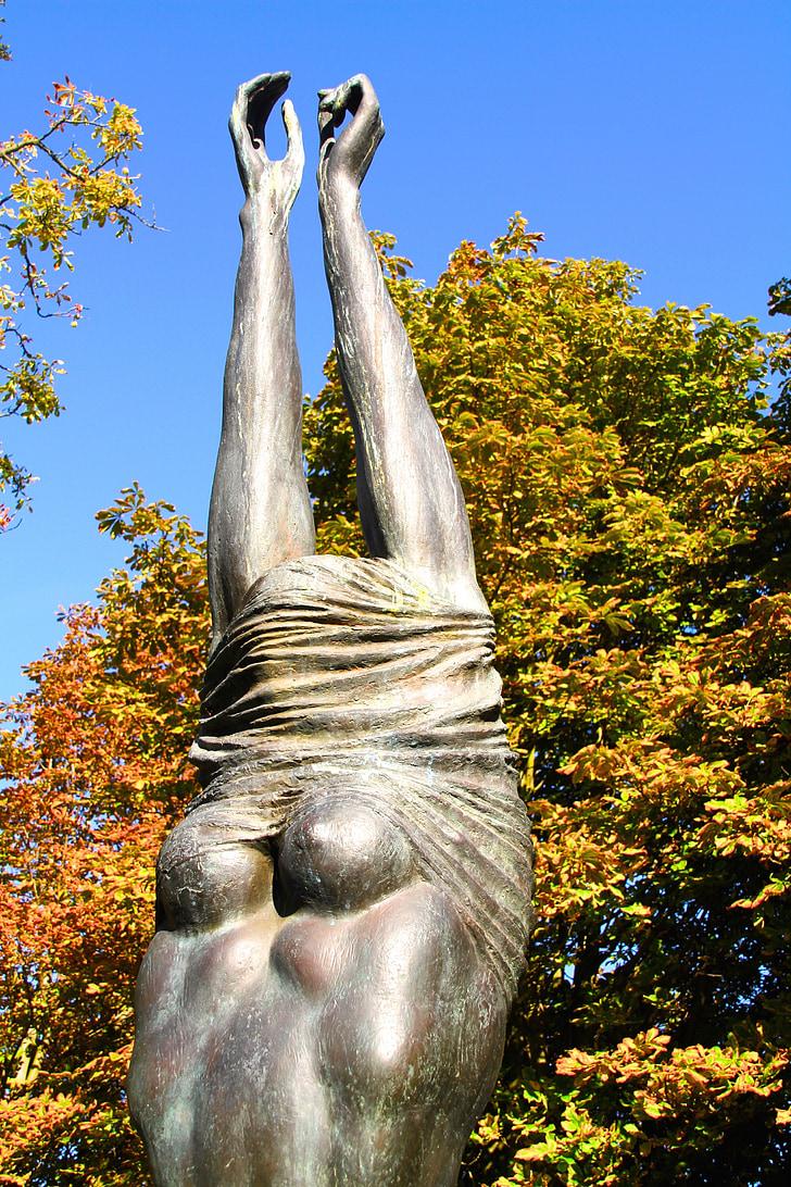 estàtua, Art, escultura, Magdeburg, cos, dona, nu