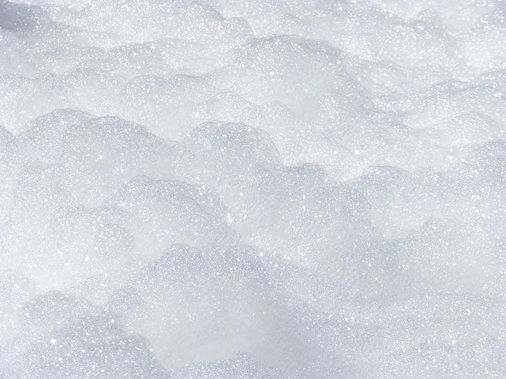 foam, background, texture, sparkling, snow, winter, backgrounds