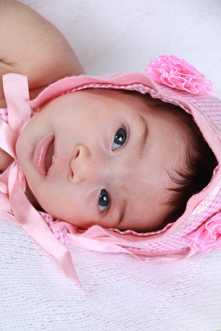 ulls, Linda, Rosa, Bebe, nadó, tendresa, nadó