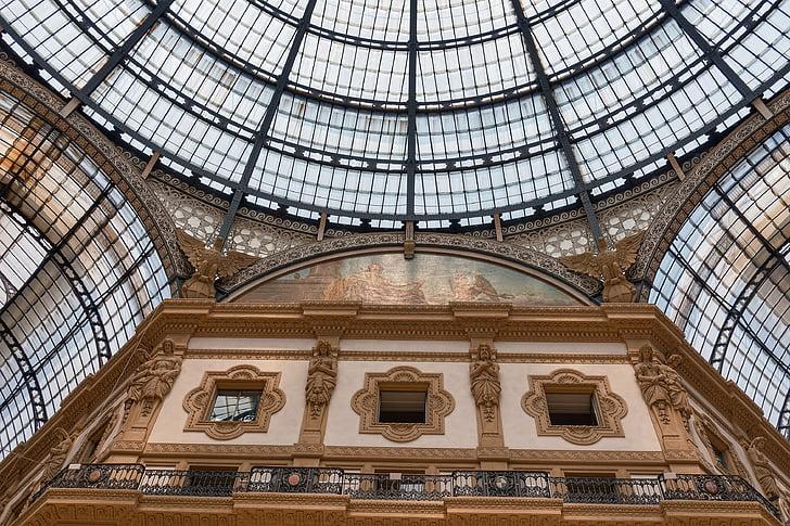 Milà, Vitrall, galeria, sostre, finestra