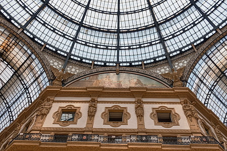 Milano, vitraliu, Galerie, plafon, fereastra