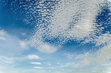 Sky, coucher de soleil, Dim, Nuage, bleu, nuageux, arrière-plan
