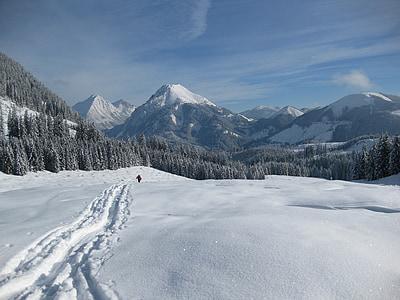 snow, mountain, winter, wintry, go tours