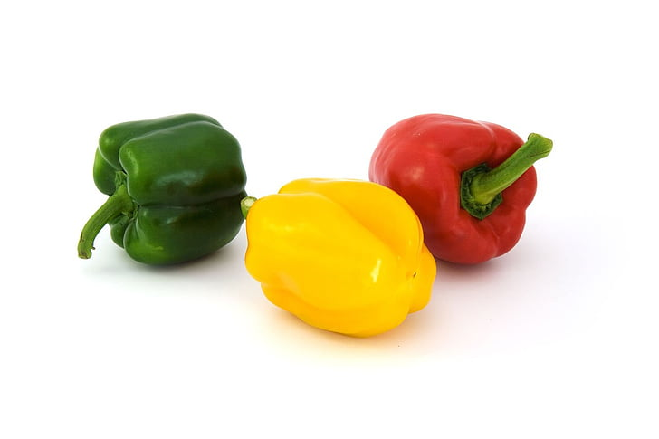 Värviline, toidu, pipar, paprika, paprika, taimne, punane