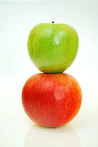 사과, 레드, 그린 애플, 과일, 애플-과일, 음식, 신선도