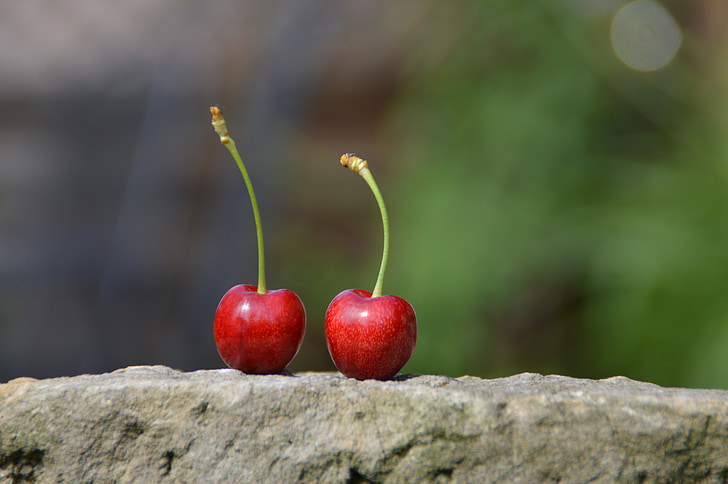 cherry, delicious, sweet, healthy, nature, individually, pick