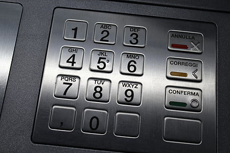 atm keypad, keyboard, numbers, letters, code