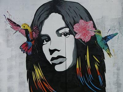 Street art, graffiti, hátteret, színes, szín, művészi, Cool