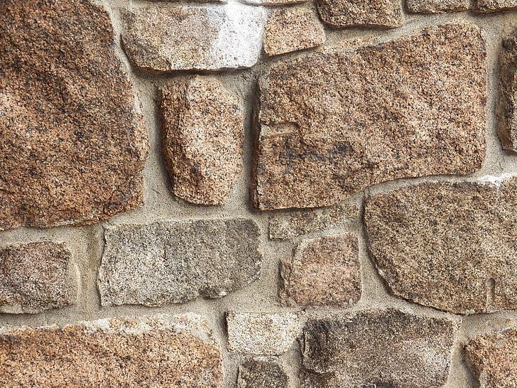 fons, fons, pedra, pedres, granit, paret, parets