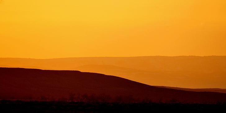pôr do sol, paisagem, Crepúsculo, Crepúsculo, raio de sol, céu, colorido