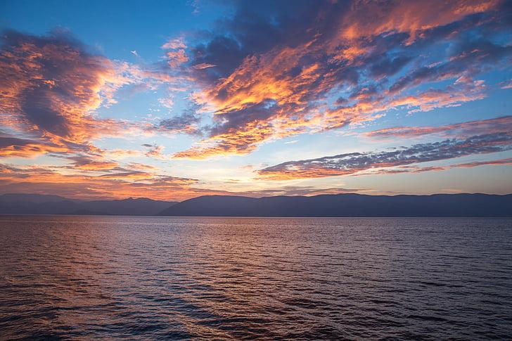 plaj, bulutlar, Şafak, Dusk, doğa, okyanus, açık havada