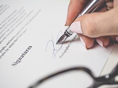 thỏa thuận, kinh doanh, cận cảnh, hợp đồng, dữ liệu, thỏa thuận, Bàn