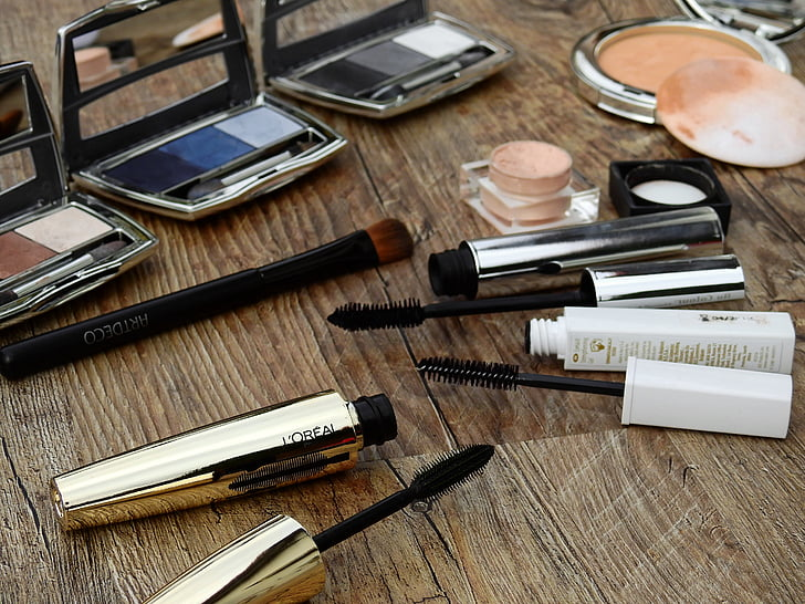 produits de beauté, composent, maquillage, beauté, Couleur, poudre, rouge