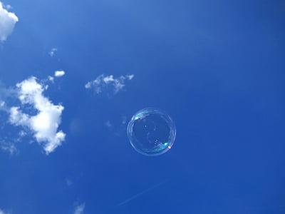 Blase, Himmel, Wolke, Blau, blauer Himmel, blauer Hintergrund, Hintergründe