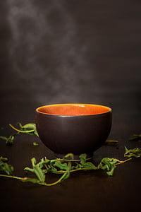 t, xícara de chá, chá verde, vapor, chá quente, hora do chá, bebida